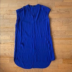 Madewell BLUE shift dress with pockets! SMALL